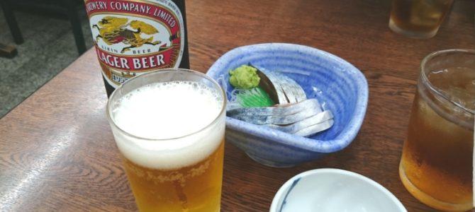 「おじさんのためのステキ空間」- 福家 瓶ビールときずし他