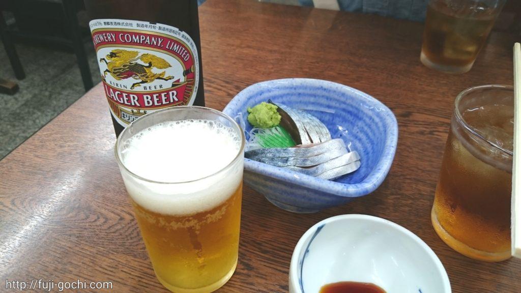瓶ビールときずし