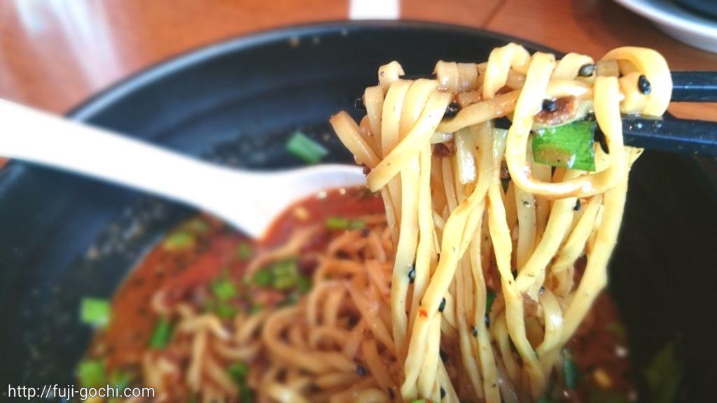 紅虎軒黒ごま担々麺麺リフト