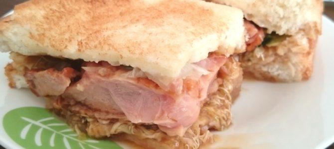 コメダ珈琲店 香芝店 あみ焼きチキンホットサンドとみそカツパン
