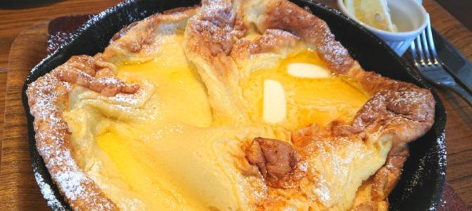 「レモンで香ばしパンケーキ」上高地あずさ珈琲 大和高田店
